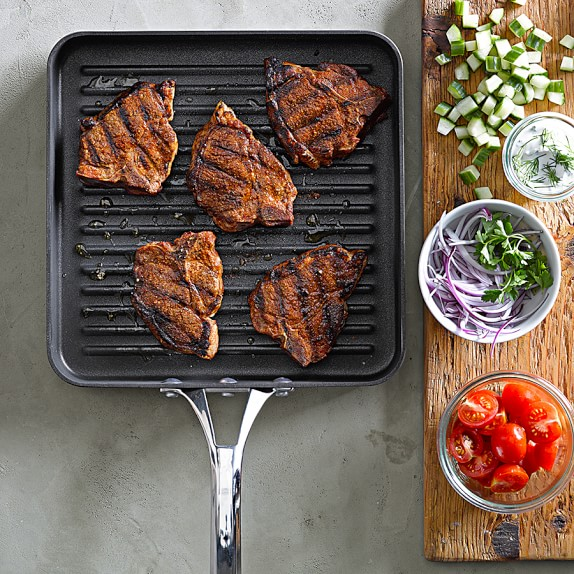 calphalon elite nonstick square grill pan williams sonoma. Black Bedroom Furniture Sets. Home Design Ideas