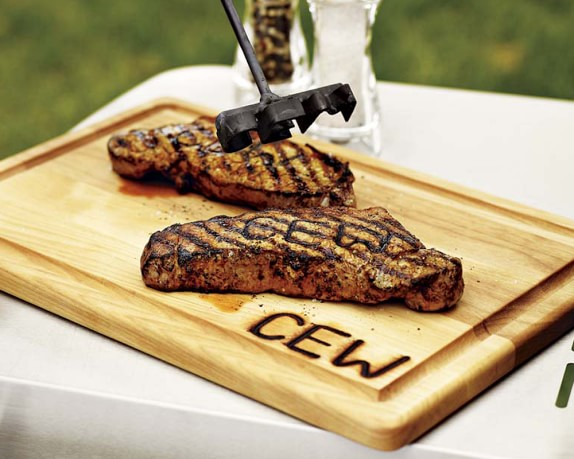 Monogrammed steak brand carving board williams sonoma
