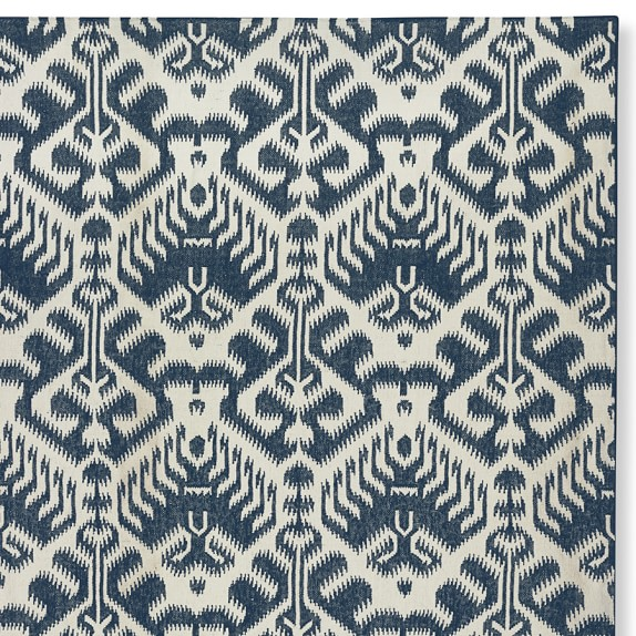 Ikat Medallion Indoor Outdoor Rug Dress Blue Williams