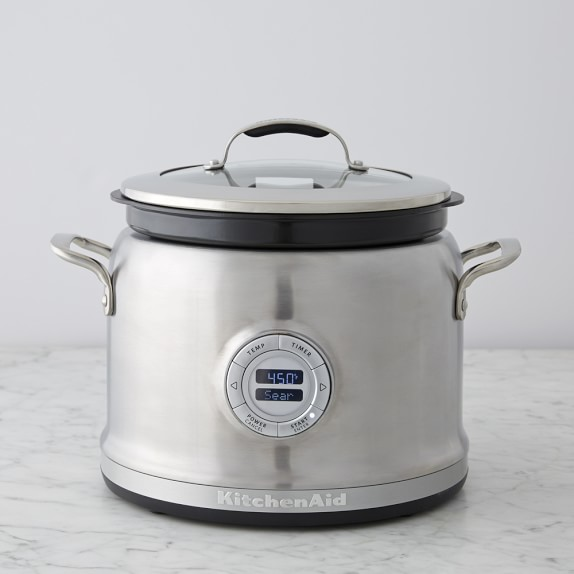 Kitchenaid 4 Qt Stainless Steel Multi Cooker With Steam Roast Rack Williams Sonoma