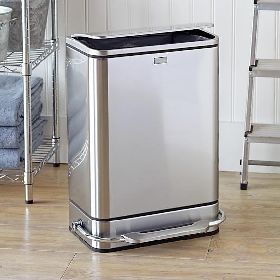 simplehuman steel bar step trash can williams sonoma. Black Bedroom Furniture Sets. Home Design Ideas