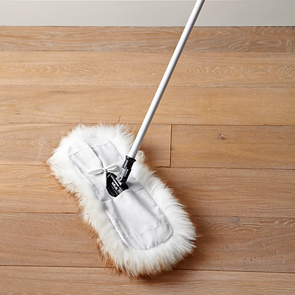 Lambswool floor duster williams sonoma Dust mop for wood floors