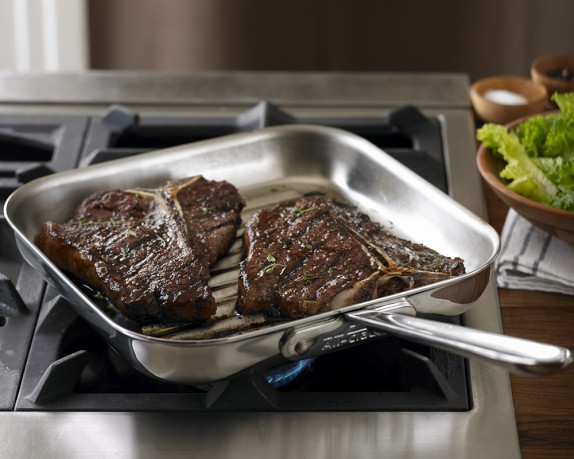 All Clad D5 Stainless Steel Square Grill Pan Williams Sonoma