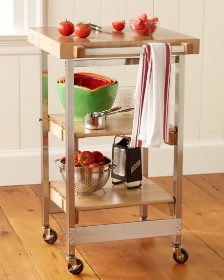 Folding cart williams sonoma - Fold away kitchen island ...