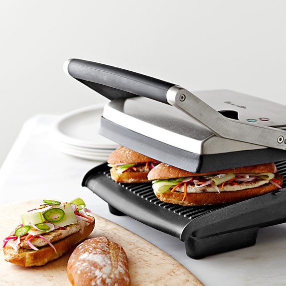 breville panini press grill williams sonoma. Black Bedroom Furniture Sets. Home Design Ideas