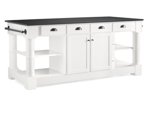 barrelson kitchen island with black granite top williams granite top kitchen island with seating home design ideas