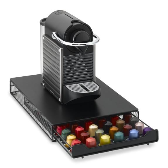 nifty nespresso capsule drawer williams sonoma. Black Bedroom Furniture Sets. Home Design Ideas