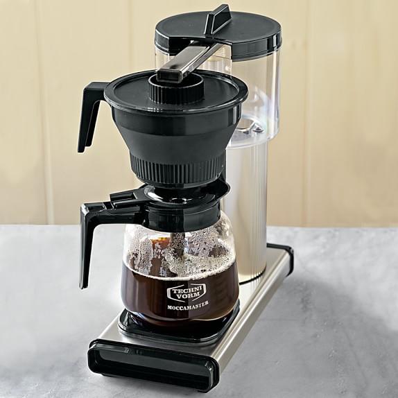 technivorm grand coffee maker with glass carafe c Moccamaster Coffee Maker Technivorm Glass Coffee Maker Copper Williams Sonoma