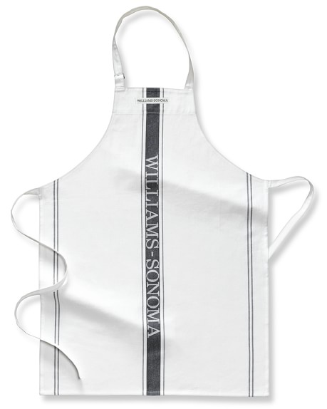 Williams-Sonoma Logo Apron, Antique White/Black