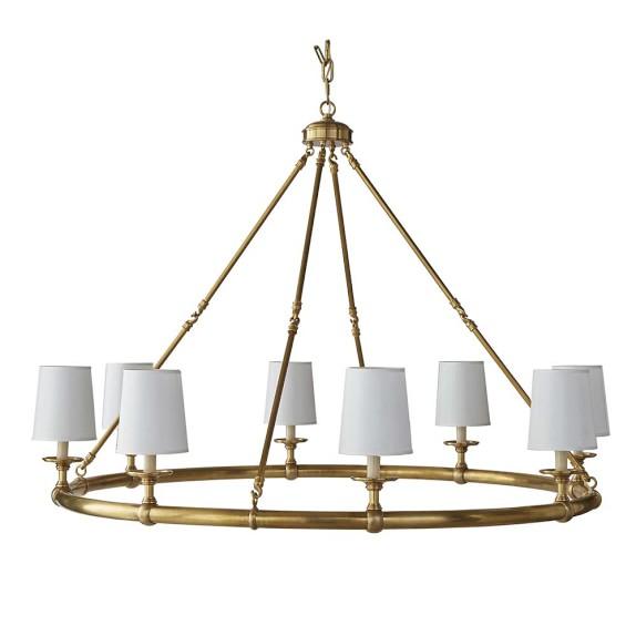 William Sonoma Lighting: Devon, 8-Light Chandelier, Antique Brass