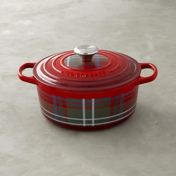 Le Creuset Signature Cast-Iron Dutch Oven, 4 1/2-Qt.,Tartan