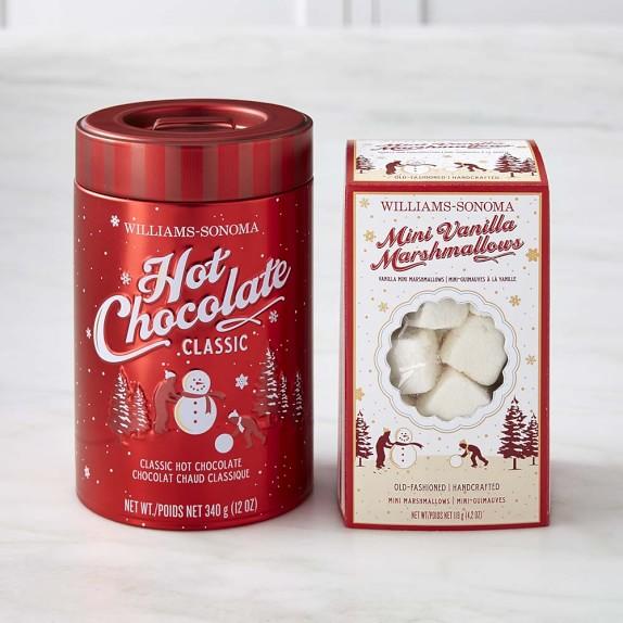Williams Sonoma Classic Hot Chocolate & Mini Marshmallows Set