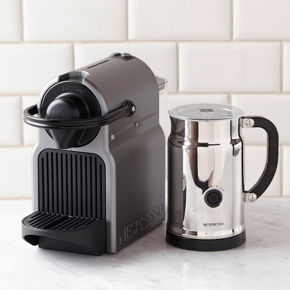 nespresso inissia espresso maker with aeroccino plus milk frother williams sonoma. Black Bedroom Furniture Sets. Home Design Ideas
