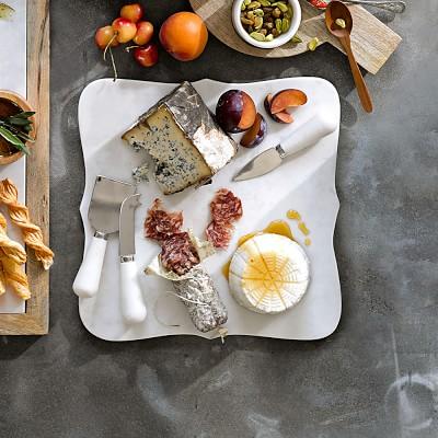 Scalloped White Marble Cheese Board Williams Sonoma