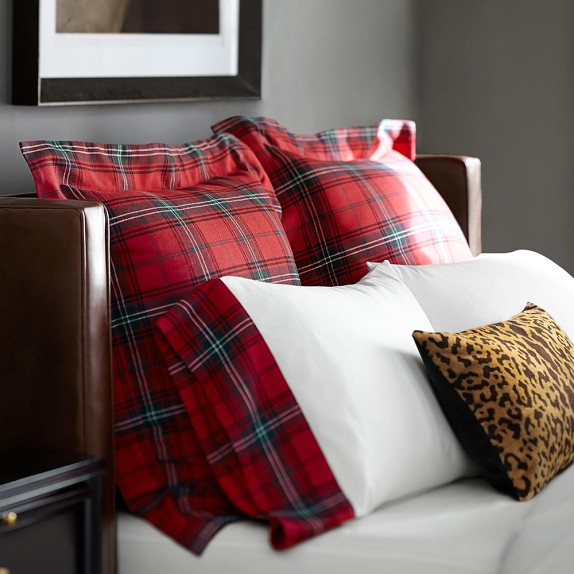 Tartan Bedding Red Williams Sonoma