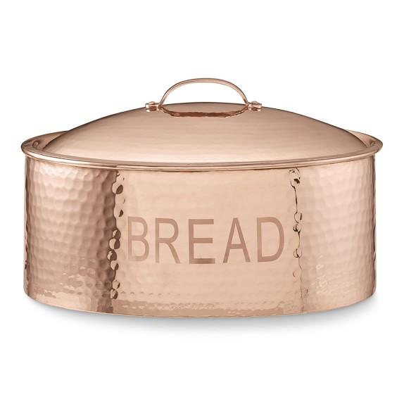 Hammered Copper Bread Box Williams Sonoma