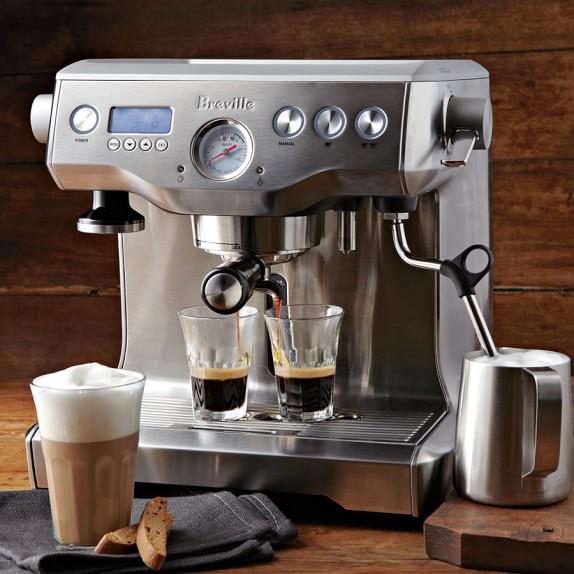 Breville One Cup Coffee Maker Manual : Breville Twin Boiler Espresso Maker Williams Sonoma
