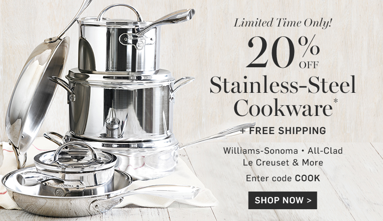 20% Off Stainless-Steel Cookware
