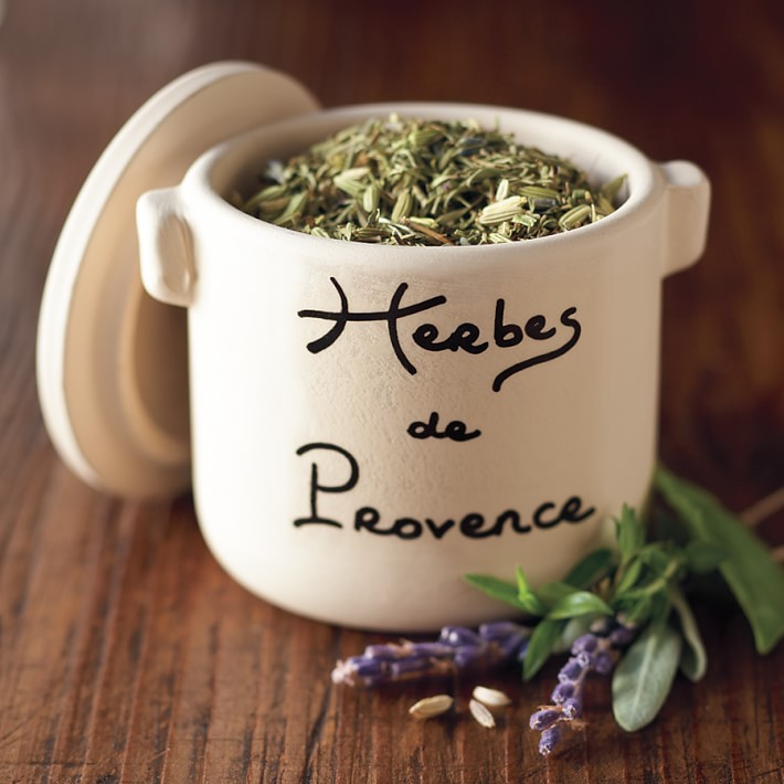 Herbs of Provence in Ceramic Crock