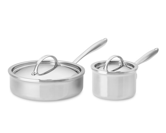 Williams Sonoma Thermo-Clad Stainless Steel Cookware Set, 4-Piece