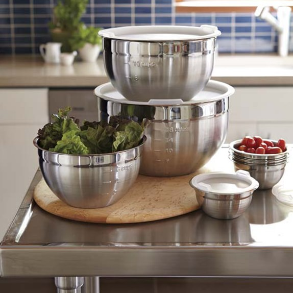 Stainless Steel Prep Mixing Bowls With Lids Set Of 4