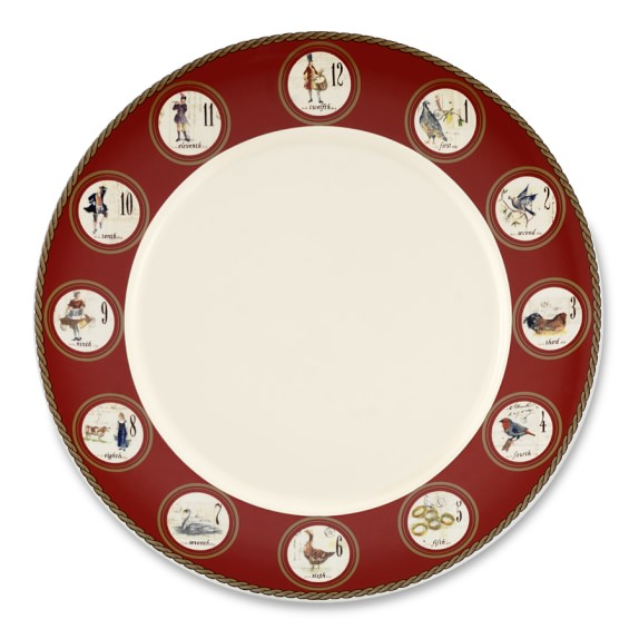 12 Days of Christmas Dinner Plate