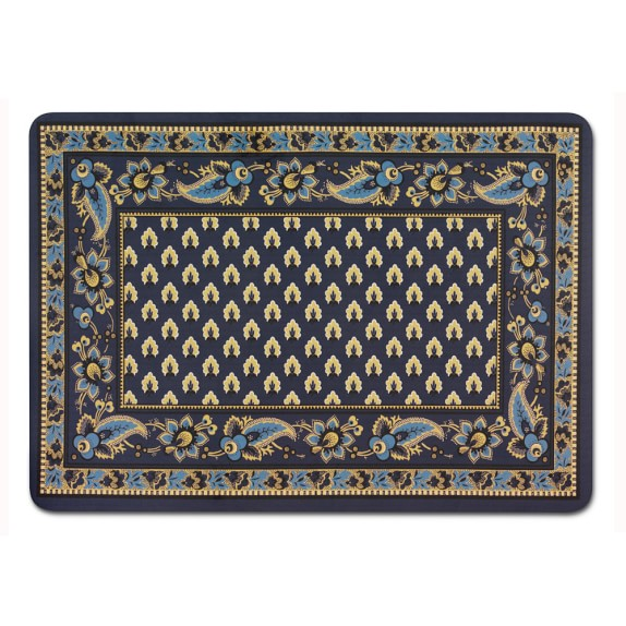 "Marsielle Cushion Mat, Navy, 31"" x 22"""