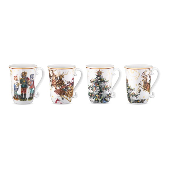 'Twas The Night Before Christmas Mugs, Set of 4, Multi