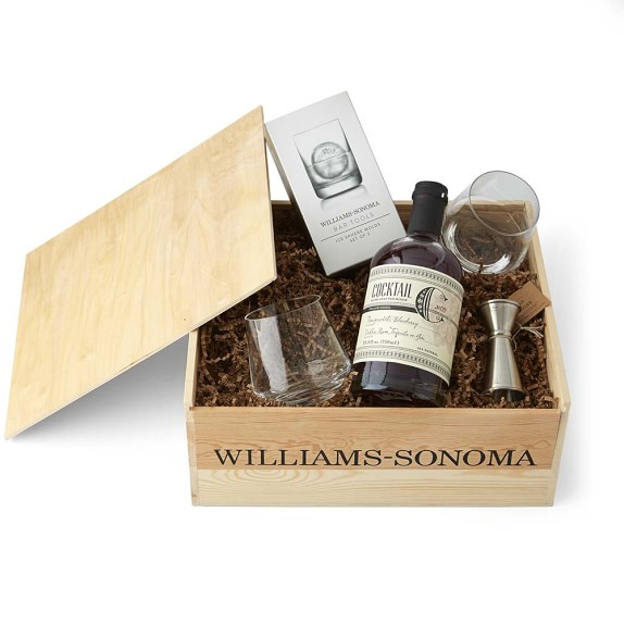 Cocktail gift crate williams sonoma for Craft cocktail gift set