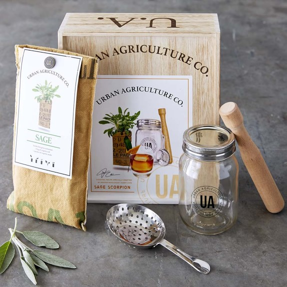 Grow your own craft cocktail kit sage scorpion williams for Craft cocktail gift set