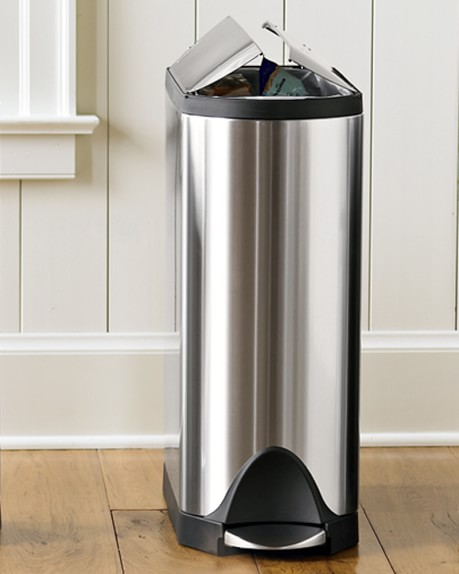 Simplehuman Stainless Steel Fingerprint Proof Butterfly Trash Can Williams Sonoma