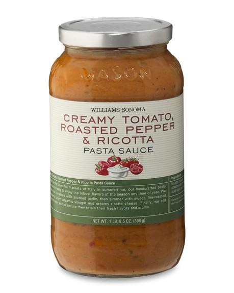 Williams-Sonoma Creamy Tomato, Roasted Pepper & Ricotta Pasta Sauce