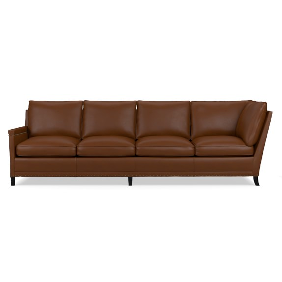 Addison 2 Piece L Shaped Leather Sofa Sectional Right