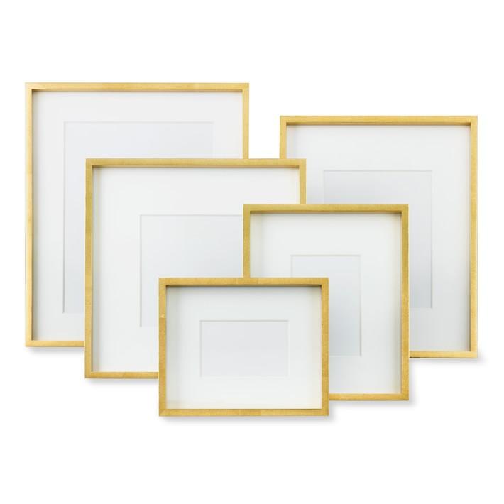 gold metallic gallery frame williams sonoma