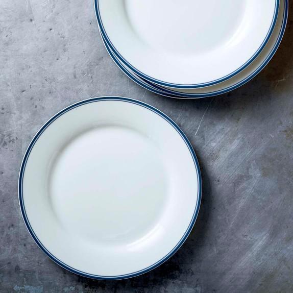 Williams Sonoma Open Kitchen Bistro Salad Plates, Set of 4, Blue