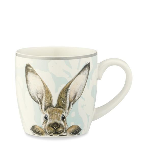 Damask Bunny Mug, Set of 4