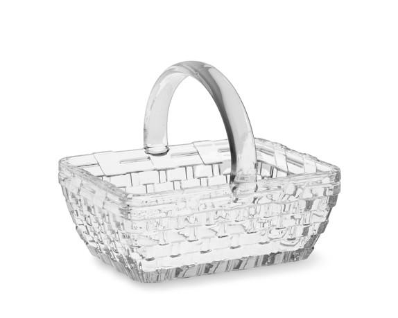 Easter Embossed Glass Basket