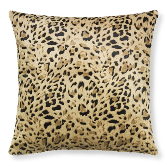 Stenciled Panther Hide Pillow Cover, 22
