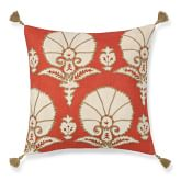 Ottoman Floral Velvet Applique Pillow Cover, 20