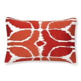 Embroidered Ikat Pillow Cover, 14