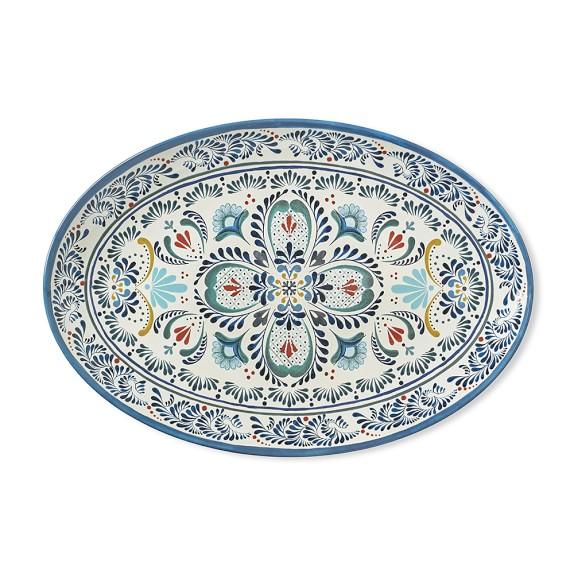 Veracruz Blue Melamine Platter