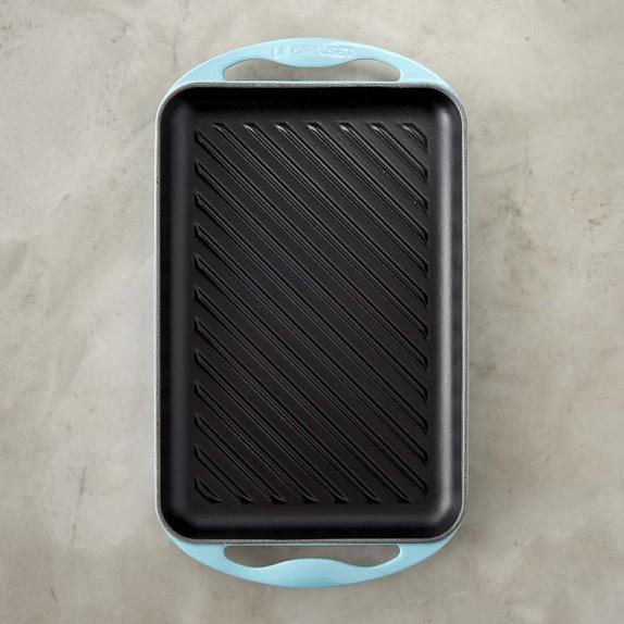 Le Creuset Rectangular Skinny Grill, Matte Aqua