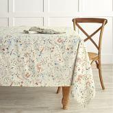 Hana Print Tablecloth 70x108 Flax