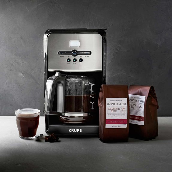 Krups Drip Coffee Maker : Krups Savoy Programmable Coffee Maker with Aroma Tube Williams Sonoma