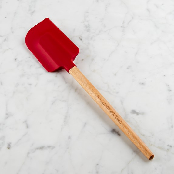 Williams-Sonoma Large Silicone Spatula with Classic Wood Handle, Red