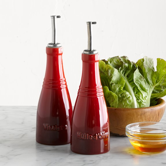 Le Creuset Oil & Vinegar Cruet Set, Red
