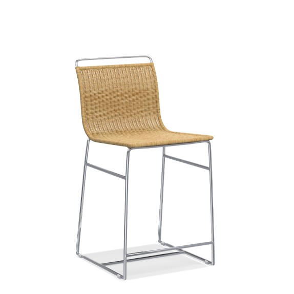 Metal And Rattan Counter Stool Williams Sonoma