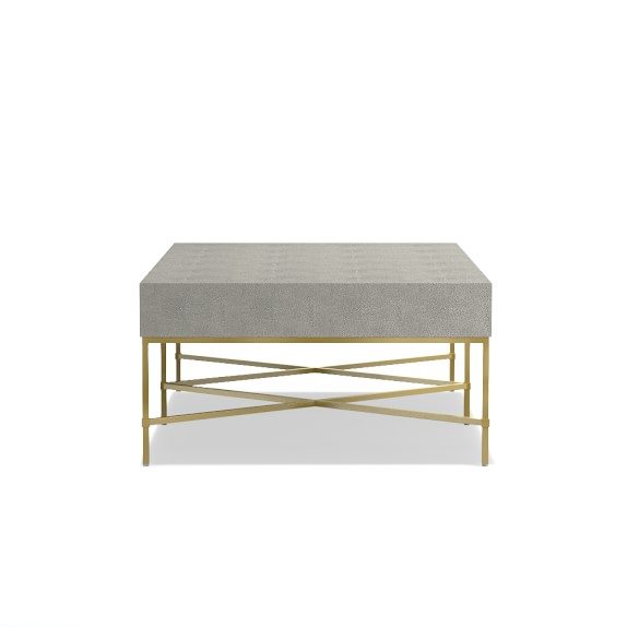 faux shagreen coffee table williams sonoma