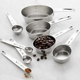 Williams Sonoma Stainless-Steel Nesting Measuring Cups & Spoons Set