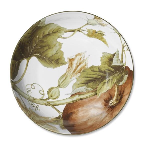Botanical Pumpkin Serve Bowl